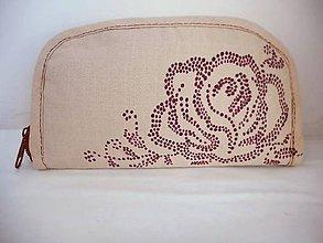 Peňaženky - Peňaženka ruža - 7715706_