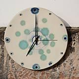 Hodiny - Keramické hodiny Kruh velký - Vodní víry - 7714700_