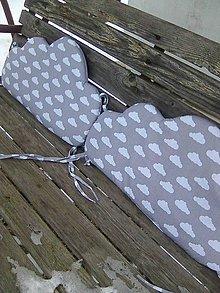 Textil - hniezdo obláčiky mráčiky - 7716706_