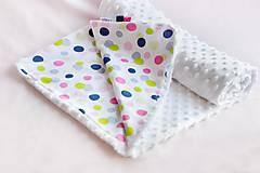 Minky deka celoročná White & Dots
