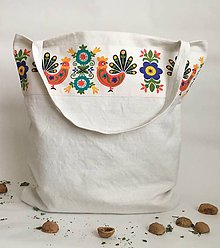 Nákupné tašky - Nákupná taška z ručne tkaného ľanu ,,Ľudovô,, - 7717264_