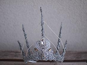Ozdoby do vlasov - velká koruna zdobená štrasem a perličkami - 7715140_