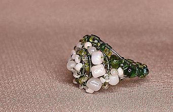 Prstene - Zelený prstienok - 7716776_