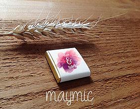Darčeky pre svadobčanov - Svadobná čokoládka - 7715754_