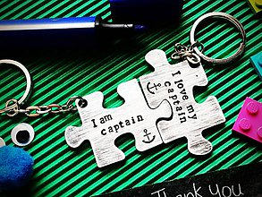 Kľúčenky - Iam captain/I love my captain / cena je za pár - 7721509_