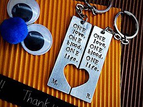 Kľúčenky - ONE love ONE blood ONE life - 7722358_