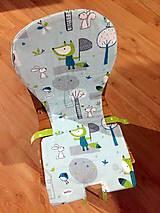 Textil - Podložka do vysokej stoličky Líštičky - 7722923_