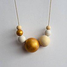 """Náhrdelníky - náhrdelník """" MINIMAL 34""""- drevo maľované akrylom - 7719849_"""
