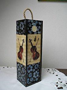 Krabičky - krabica na fľašku husľová - 7721288_