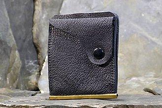 Peňaženky - Kožená dolarovka - Vykrojená se strukturou - 7722592_