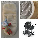 Textil - Podložka 100% merino do vaničky kočíka Cam Dinamico Hviezda sivá - 7723084_