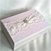 Krabičky - Shabby truhlica - 7719638_
