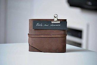 Papiernictvo - kožený zápisník B&W - 7721002_