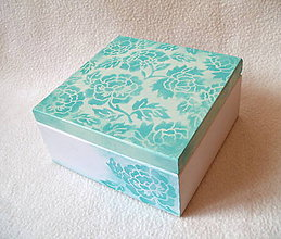 Krabičky - Krabička na čaj Mentolové ruže - 7720545_