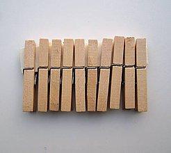 Polotovary - Drevené štipce natur-10 ks - 7721762_