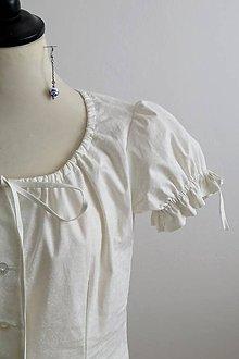 Tričká - biela bavlnená blúzka - 7723078_
