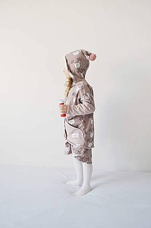 Detské oblečenie - Oversize kabátik Jarné prebudenie staroružová - 7719989_