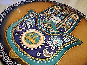 Dekorácie - Mandala Hamsa alebo Fatimina ruka - 7722191_