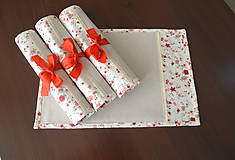 Úžitkový textil - Krásny obrus s podnosmi na stôl - 7721237_