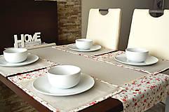 Úžitkový textil - Krásny obrus s podnosmi na stôl - 7721242_