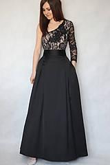 Sukne - Spoločenská skladaná sukňa s tylovou spodničkou rôzne farby - 7719151_