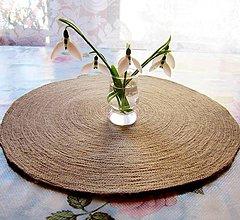 Úžitkový textil - Jutové prestieranie okrúhle - priemer 40 cm - 7720220_