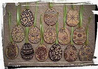 Drobnosti - drevené kraslice - 7719123_