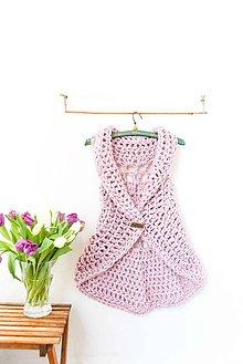 Iné oblečenie - _Caitlin... vesta... v púdrovej ružovej... & VLNa - 7726050_