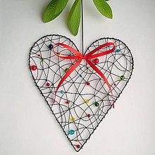 Dekorácie - láska je farebná - srdce 27cm - 7724934_