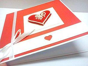 """Papiernictvo - Pohľadnica ... """"Valentínske srdce"""" I - 7724781_"""
