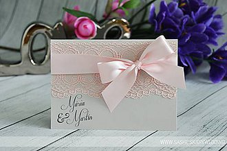 Papiernictvo - Svadobné oznámenie Romance - 7727403_