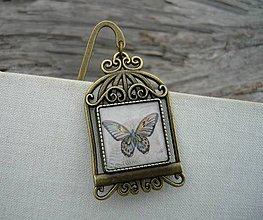 Papiernictvo - Záložka do knihy Romantický motýl - 7725562_