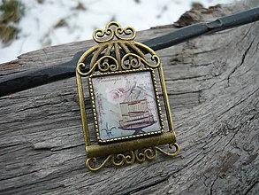 Odznaky/Brošne - Brošňa Romantická klec - 7727310_