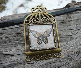 Odznaky/Brošne - Brož Vintage Motýl - 7727321_
