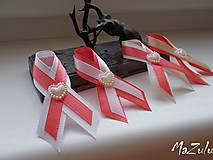 Pierka - svadobné pierka v lososovom - 7724471_