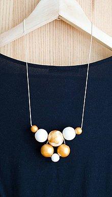 """Náhrdelníky - náhrdelník """" MINIMAL  35""""- drevo maľované akrylom - 7724524_"""