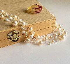 Náhrdelníky - Ručne šitý perlový náhrdelník Swarovski (Ag) - 7727248_