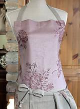 Iné oblečenie - Exkluzívny set - ľanová utierka a zástera pre štýlové gazdinky - 7725349_