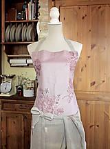 Iné oblečenie - Exkluzívny set - ľanová utierka a zástera pre štýlové gazdinky - 7725351_