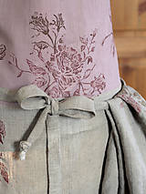 Iné oblečenie - Exkluzívny set - ľanová utierka a zástera pre štýlové gazdinky - 7725352_