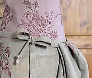 Iné oblečenie - Exkluzívny set - ľanová utierka a zástera pre štýlové gazdinky - 7725353_