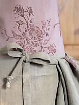 Iné oblečenie - Exkluzívny set - ľanová utierka a zástera pre štýlové gazdinky - 7725354_