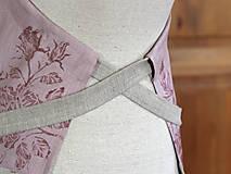Iné oblečenie - Exkluzívny set - ľanová utierka a zástera pre štýlové gazdinky - 7725355_