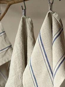 Úžitkový textil - Set troch ľanovo-bavlnených vidieckych utierok - 7724960_