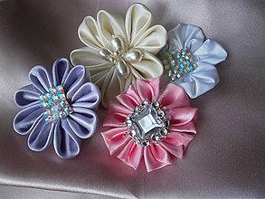 Drobnosti - Saténové kvety - 7726360_