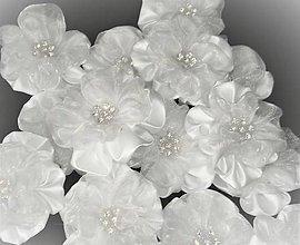 Drobnosti - Saténové kvety so Swarowsky kvietkom - 7726585_