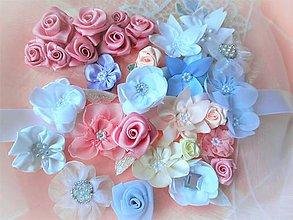 Drobnosti - Saténové a šifónové kvety - 7726793_
