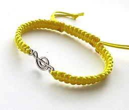 Náramky - S husľovým kľúčom (žltý) - 7727018_