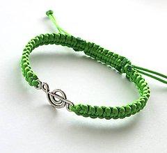 Náramky - S husľovým kľúčom (zelený) - 7727025_