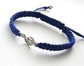 Náramky - S husľovým kľúčom (modrý) - 7727057_